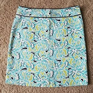 Vineyard Vines Skirts - Vineyard Vines blue fish print skirt Sz. 0